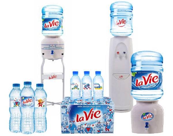 Các sản phẩm nước suối Lavie
