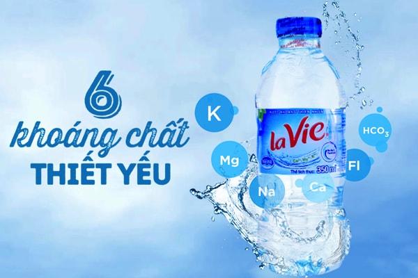 Nước uống Lavie chứa 6 khoáng chất có lợi cho sức khoẻ